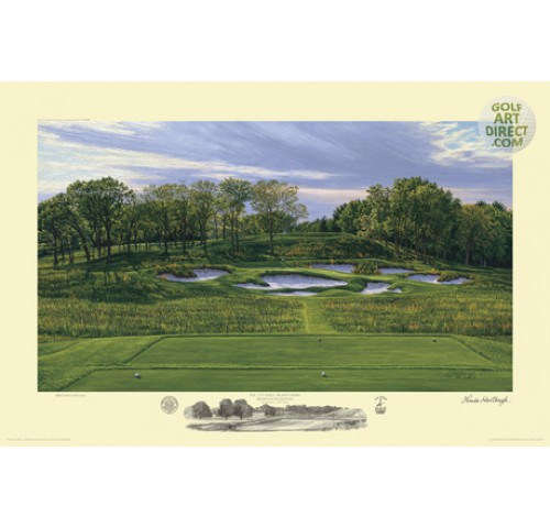 Bethpage Black - 17th Hole - 2009 U.S. Open Championship Official Limited Edition Print