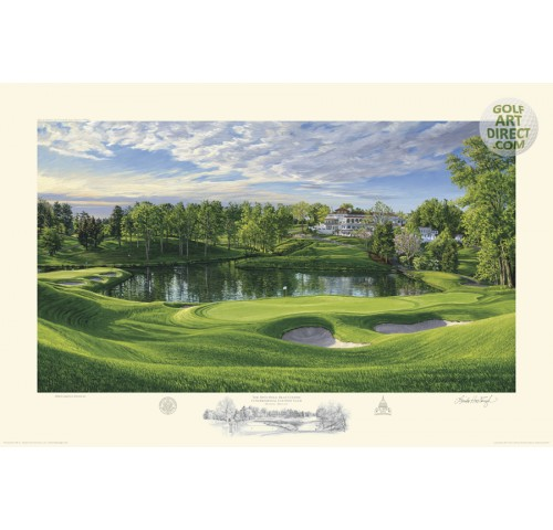 Congressional Country Club - 10th hole - Blue Course - 2011 U.S. Open Championship Official Limited Edition Print