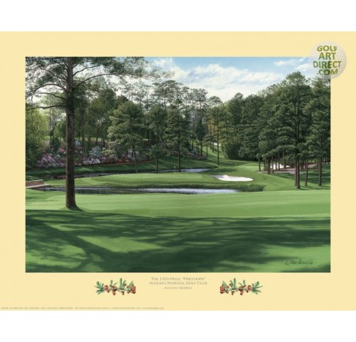 "Augusta National Golf Club - 15th hole ""Firethorn"""