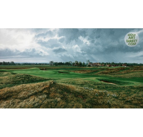 Royal St. George's – 17th hole & Clubhouse – Premier Canvas Limited Edition - SPECIAL OFFER 36% OFF