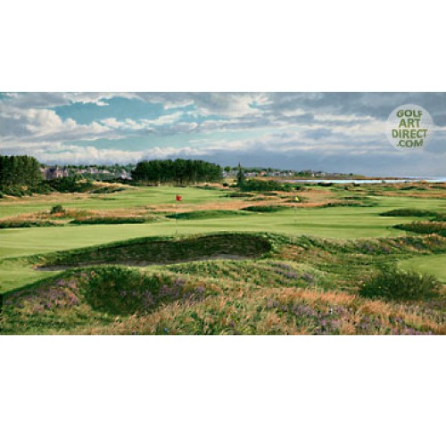 Carnoustie - The 14th & 4th holes - 1999 Open Championship Official Artist Series - Limited Edition Print - SPECIAL OFFER 36% OFF