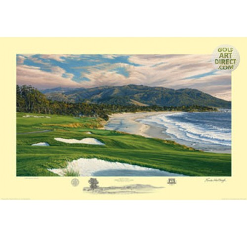 Pebble Beach - 9th hole - 2010 U.S. Open Championship Official Limited Edition Print