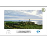"Turnberry - 9th hole ""Bruce's Castle"" - Signed Open Edition - SPECIAL OFFER 25% OFF"