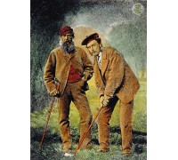 Old Tom and Young Tom - Hand Coloured Etching