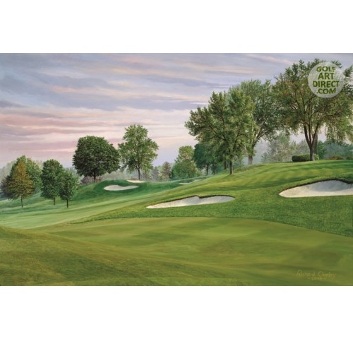Oakland Hills - 11th hole - 2004 Ryder Cup Official Artist Series