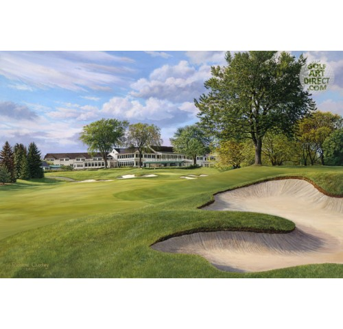 Oakland Hills - 18th hole - 2004 Ryder Cup Official Artist Series