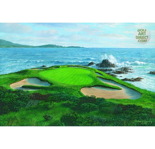 Pebble Beach - 7th hole - Signed Open Edition