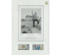 Jack Nicklaus - Mounted with 2 uncirculated RBS commemorative bank notes.