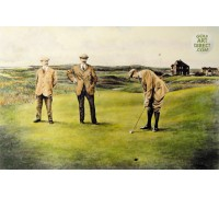 The Great Triumvirate - Hand Coloured Etching