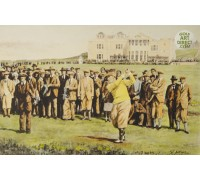 Bobby Jones at St Andrews 1927 - Hand Coloured Etching
