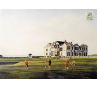 St Andrews - Hand Coloured Etching
