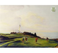 Turnberry - Hand Coloured Etching