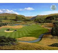 "Gleneagles - PGA Centenary Course – 2nd hole ""Wester Greenwells"" - Signed Limited Edition -  VENUE OF 2014 RYDER CUP"